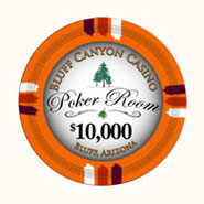 Claysmith Gaming - Bluff Canyon Casino Poker Chip