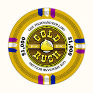 Claysmith Gaming - Gold Rush Poker Chip