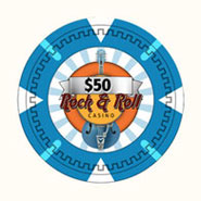Claysmith Gaming - Rock and Roll Casino Poker Chip