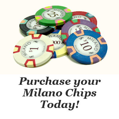 All Milano Poker Chips at Claysmith Gaming