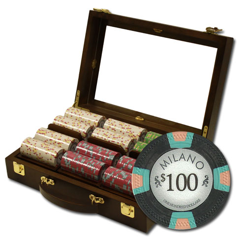 Casino chip display cases